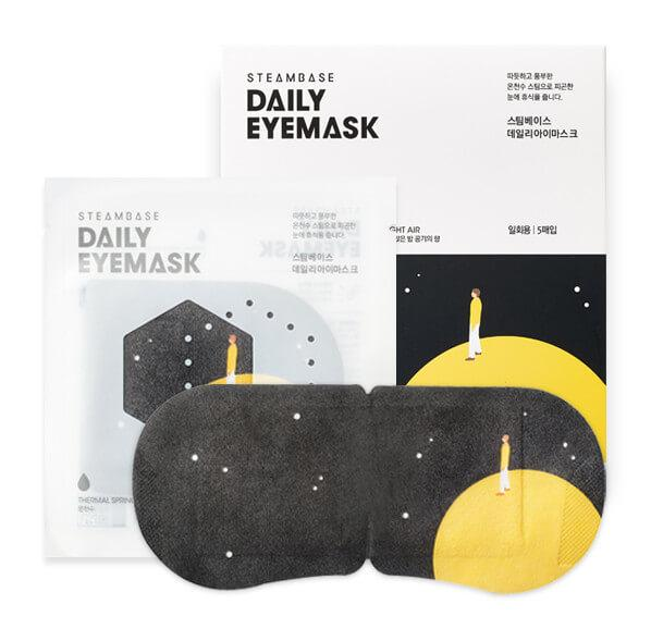 DAILY EYEMASK SILENT NIGHT AIR <br>Wärmetherapie Augenmaske mit Thermalmineralien <br> Lotus &  Ylang-Ylang Duft (5er Box)