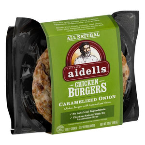 Aidell's Chicken Burger Caramelized Onions 12 oz.