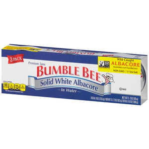 BUMBLE BEE SOLID WHITE ALBACORE TUNA IN WATER (3-3 OZ) 9 OZ