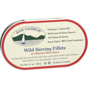 Bar Harbor All Natural Herring Fillets with Crabmeat, 6.7 Ounce