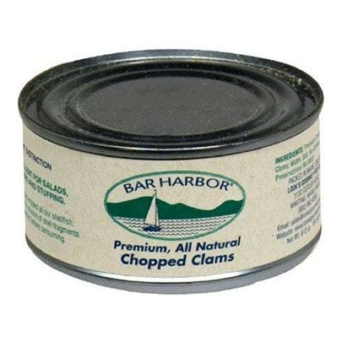 Bar Harbor Foods All Natural Chopped Clam, 6.5 Ounce