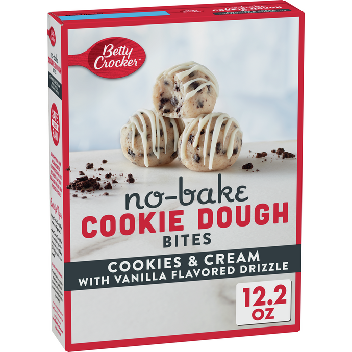 Betty Crocker Cookies & Cream No Bake Cookie Dough Bites 12.2 Oz