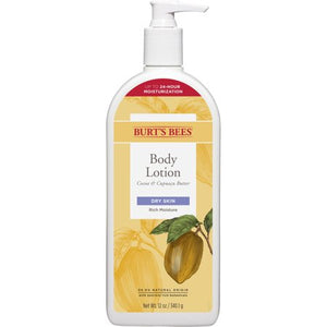 Burts Bees Cocoa & Cupuau Butter Body Lotion, Dry Skin - 12 Ounce