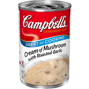 CAMPBELL'S CREAM OF MUSHROOMS W/ROASTED GARLIC 10.75 OZ