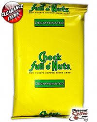 CHOCK FUL O NUTS DECAFFEINATED PACKET 1.8 OZ
