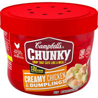 Campbell's Chunky Creamy Chicken & Dumplings Soup (15.25 oz.,