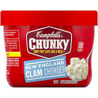 Campbell's Chunky New England Clam Chowder 15.25 oz.,