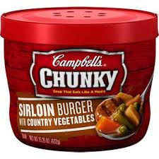 Campbell's Chunky Sirloin Burger with Country Vegetables Soup 15.25 oz.,