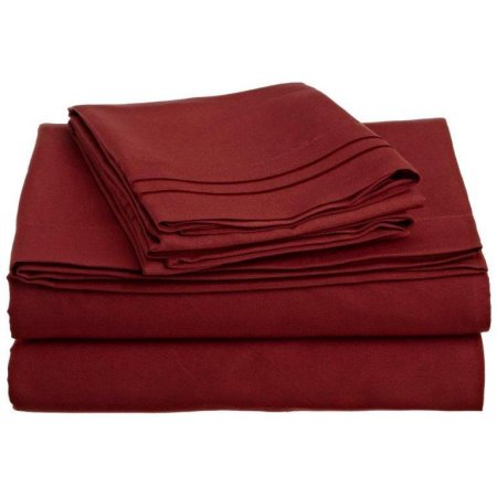 3 TWIN PIECE SHEET SET RED