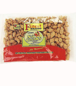 FINEST LIGHT SOYA CHUNKS VEGETABLE PROTEIN  8 OZ