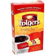 Folgers Instant Classic Roast Packets, 7 ct