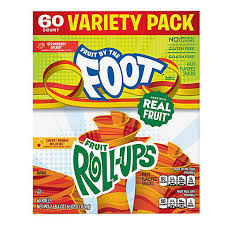 Fruit by the Foot and Fruit Roll-Ups Variety Pack 60 ct