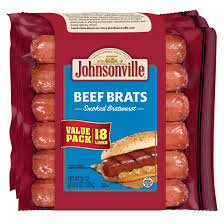 JOHNSONVILLE BEEF BRAT SAUSAGE  18 ct. 36 OZ