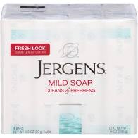 Jergens Mild Soap Bars, 3-ct. Packs