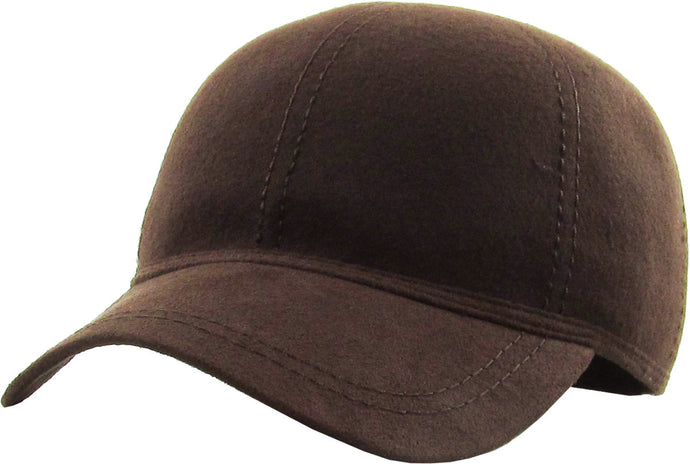 KBETHOS  100% WOOL VELCO BASEBALL CAP BROWN