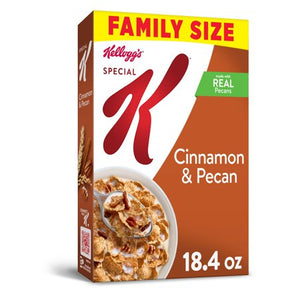 Kellogg's Special K, Breakfast Cereal, Cinnamon and Pecan, Value Size, 18.4 Oz