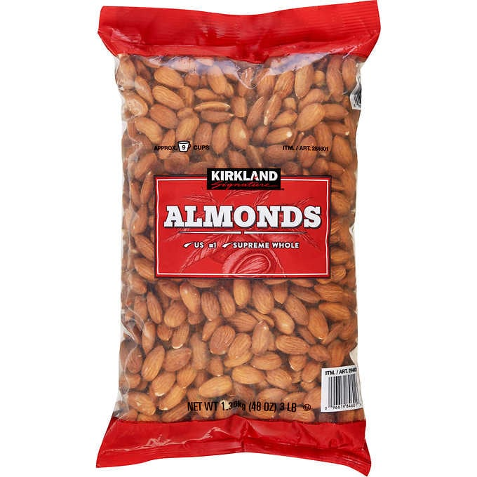 Supreme Whole Almonds, 3 lbs.