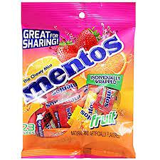 Mentos Individually Wrapped Fruity Candies, 2.27 oz. Bags