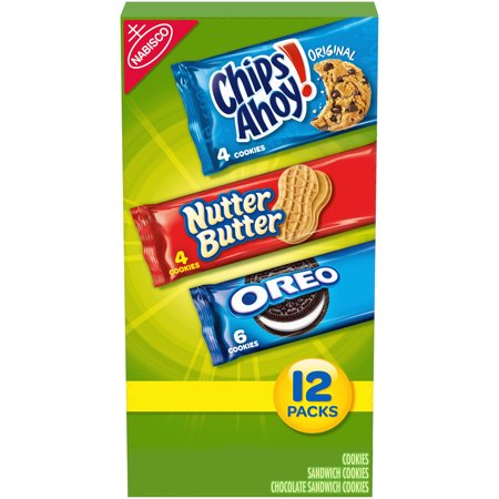 Nabisco Cookie Variety Pack, OREO, Nutter Butter, CHIPS AHOY!,