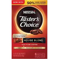 Nescafe Taster's Choice House Blend Coffee Packets, 6-ct. Boxes I