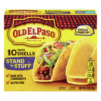 OLD EL PASO STAND N STUFF SOFT FLOUR TACO   Kit Include 8 Stand 'n Stuff flour tortillas mild taco sauce seasoning