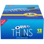 NABISCO OREO Thins Chocolate Sandwich Cookies, 12 - 1.02 oz