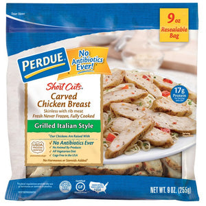 PERDUE SHORT CUTS CHICKEN (GRILLED ITALIAN) 9 0Z