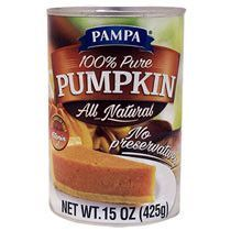 Pampa 100%  Pure  Pumpkin ,Pie Filling  15oz.  Cans