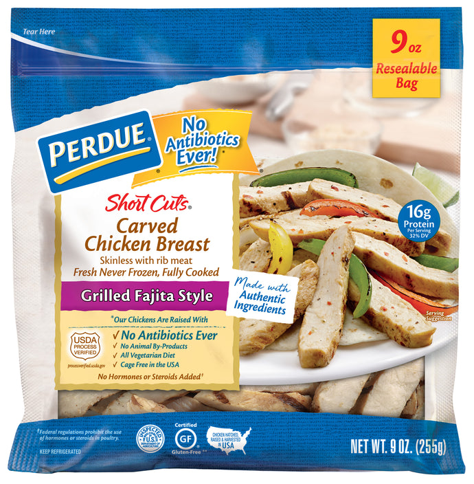 PERDUE SHORT CUTS GRILLED FAJITA STYLE CHICKEN BREAST (9 oz.)