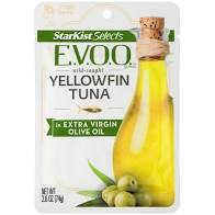 STARKIST YELLOWFIN TUNA IN EXTRA VIRGIN OLIVE OIL 2.6 oz packet