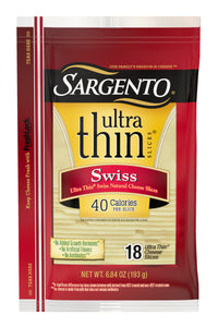 SARGENTO NATURAL DELI SWISS CHEESE 16 CT 12 OZ