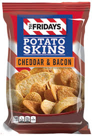 T.G.I Friday's cheddar and Bacon potato skins snack chips 4.5 oz