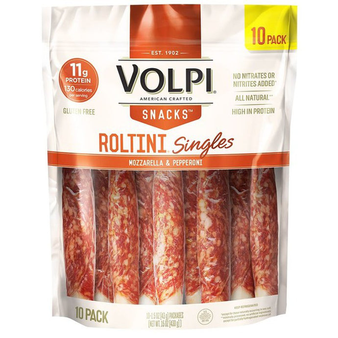 Volpi Roltini Mozzarella & Pepperoni 10 pk 15 oz