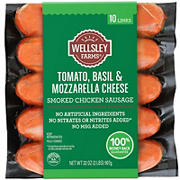 Wellsley Farms Tomato Basil & Mozzarella Cheese Chicken Sausage 32 oz