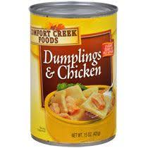 Comfort Creek Foods Dumplings and Chicken, 15 oz. Cans oz