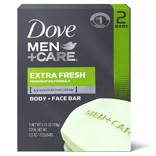 Dove Men Care Extra Fresh Body & Face Bar 2 bars