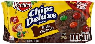 KEEBLER CHIPS DELUXE TRIPLE CHOCOLATE 10 OZ