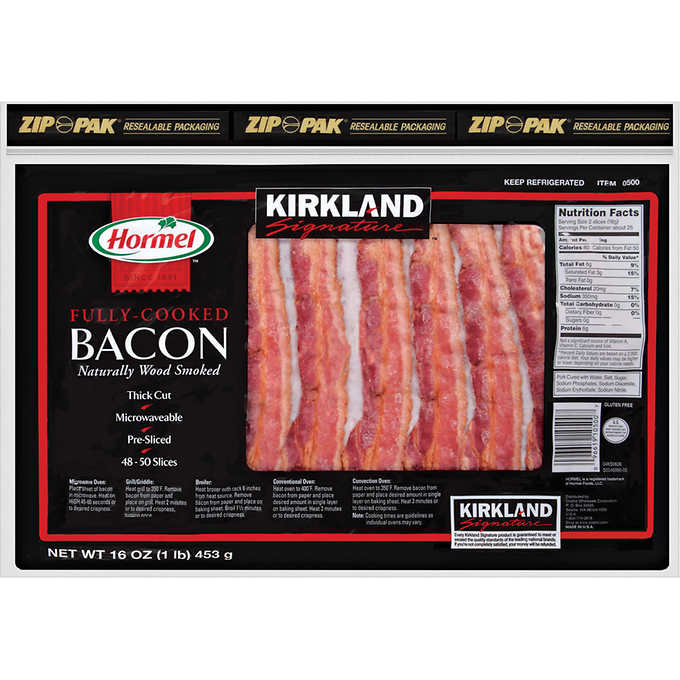 HORMEL FULLY COOKED BACON OVER 50 SLICES