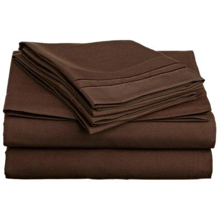 3 TWIN PIECE SHEET SET MOCHA