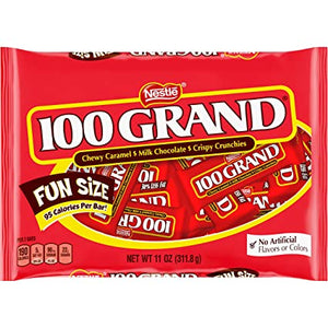 Nestle 100 GRAND Fun Size Candy Bars 11 oz. Bar