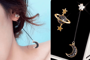 Asymmetrical Celestial Earring Set