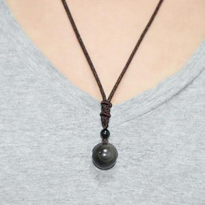 Natural Rainbow Obsidian Guidance Necklace & Pendant