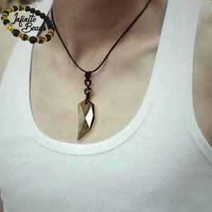 Gold Obsidian Pendant Male
