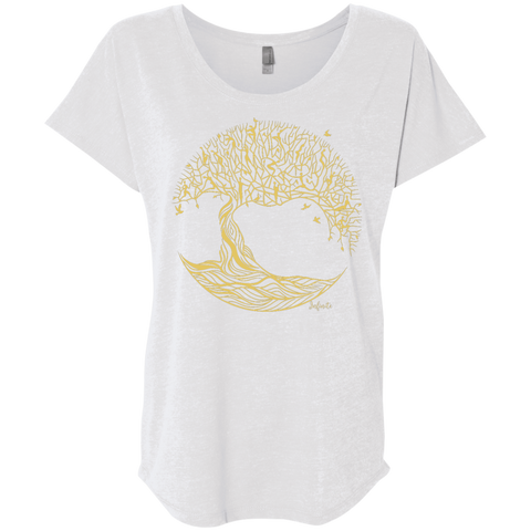 Infinite - Tree Of Life Ladies Triblend Dolman Sleeve