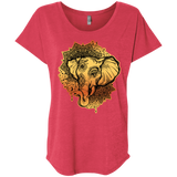 Ladies Ganesh Mandala Triblend Dolman Sleeve Top