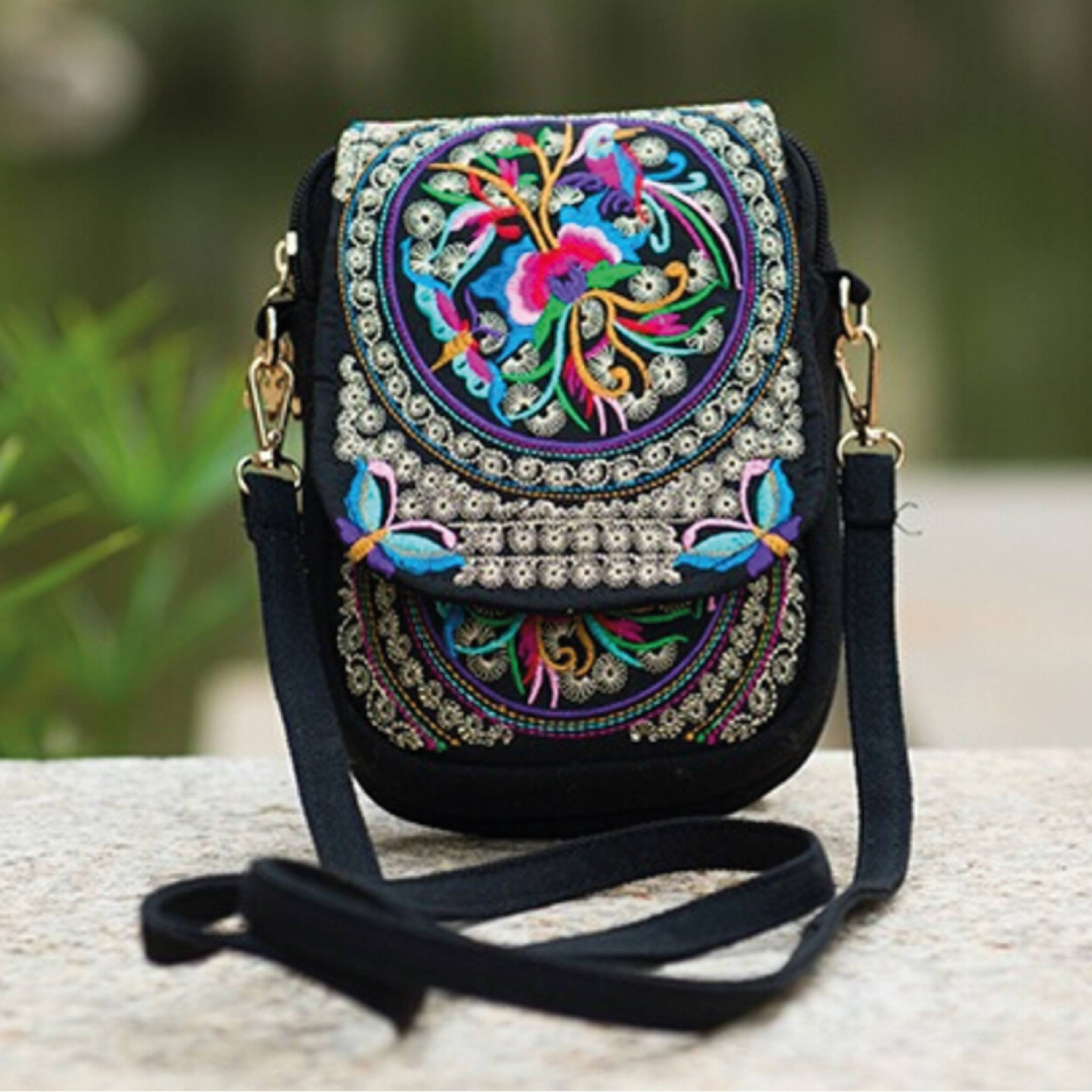 Hand Embroidered Ethnic Shoulder Bag