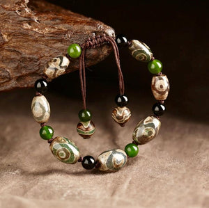 Handmade Authentic Dzi Bead Bracelet
