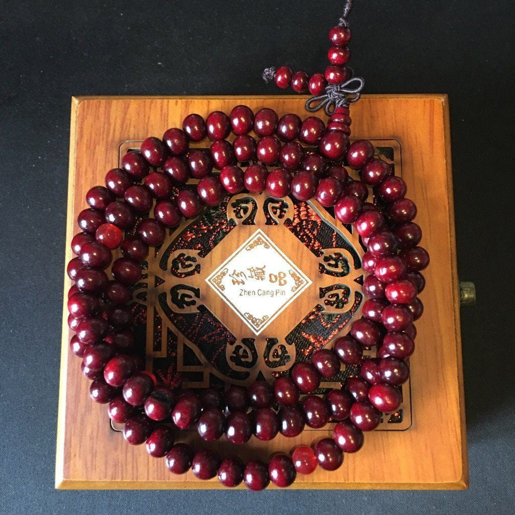 Buddhist Mala Prayer Beads 8mm Sandalwood