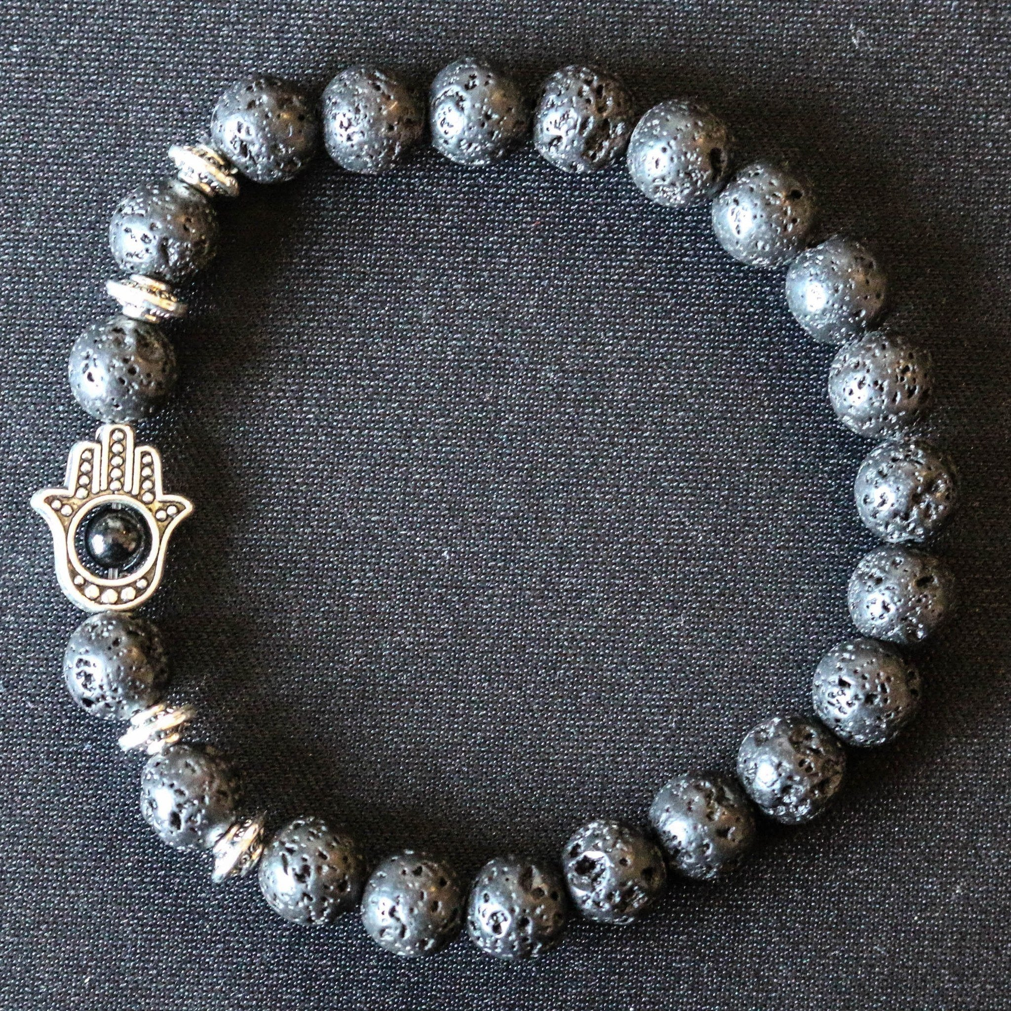 women tateossian sterling black bead beaded stonehenge and jewelry semi lyst s silver bracelet stone precious