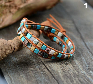 Handmade Natural Stone Earth Bracelet